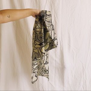100% Silk Abstract Pattern Scarf